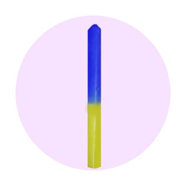vela-bicolor-azul-amarillo