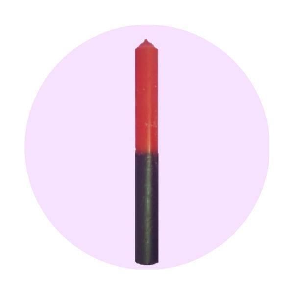 vela-bicolor-rojo-negro