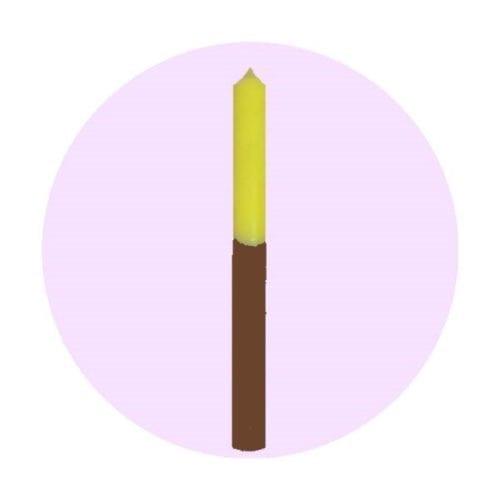 vela-bicolor-amarillo-marron